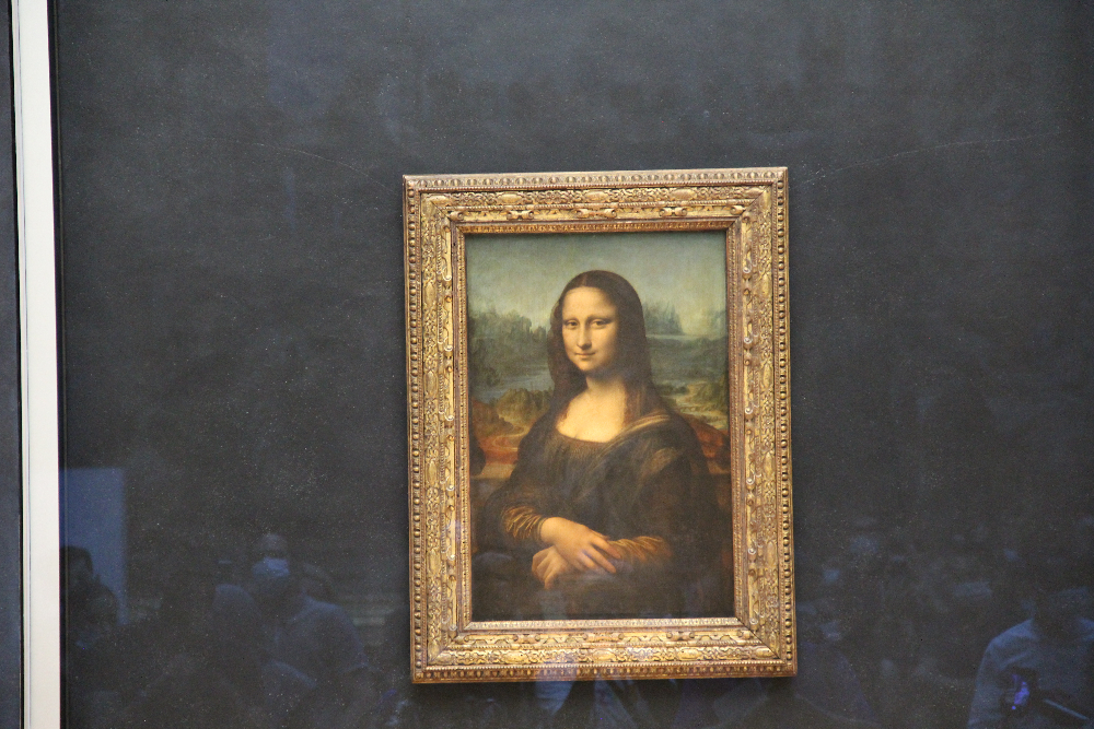 Gemälde-Frau