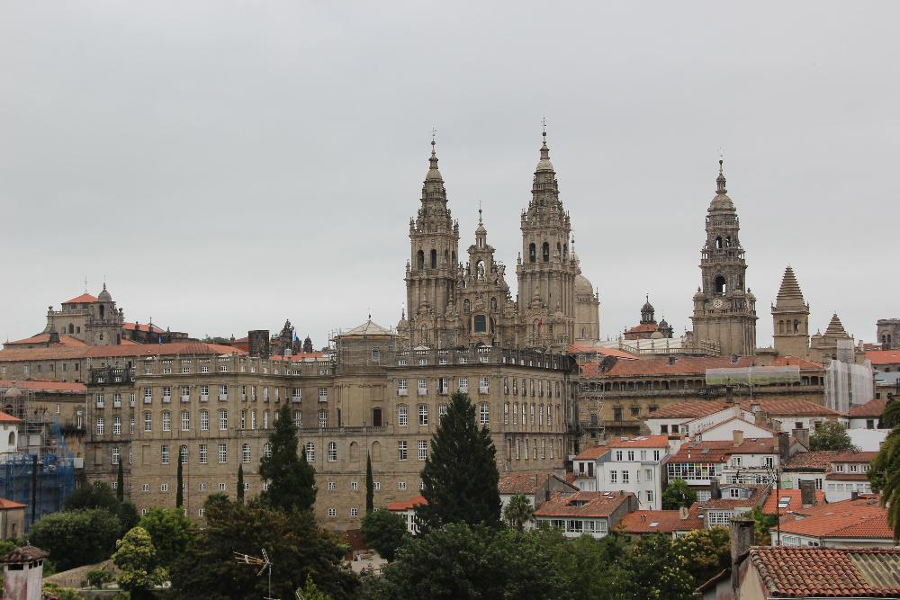Blick auf Santiago de Compostella