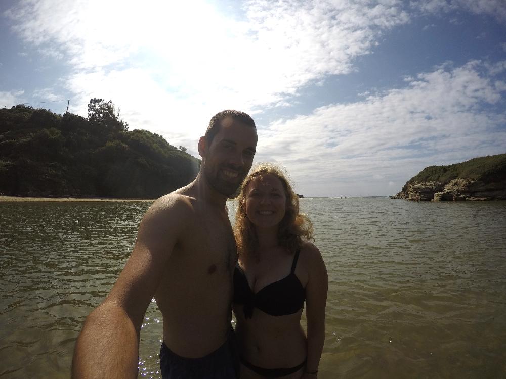 Selfie im Meer